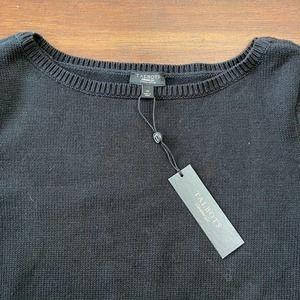 Talbots Black Sweater NWT Petite 1X